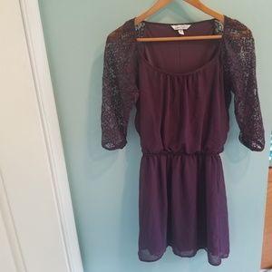 Speechless Dresses - Purple lace dress
